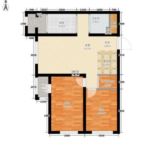 波尔的家2室0厅1卫1厨94.00㎡户型图