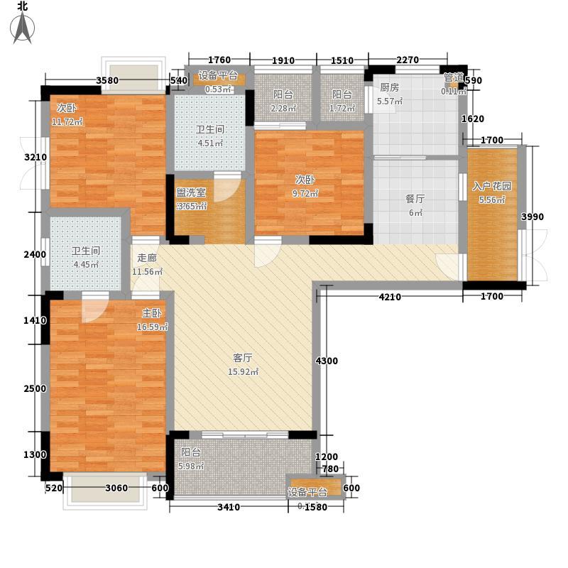 渝高香洲112.26㎡二期19/34号楼标准层A3户型