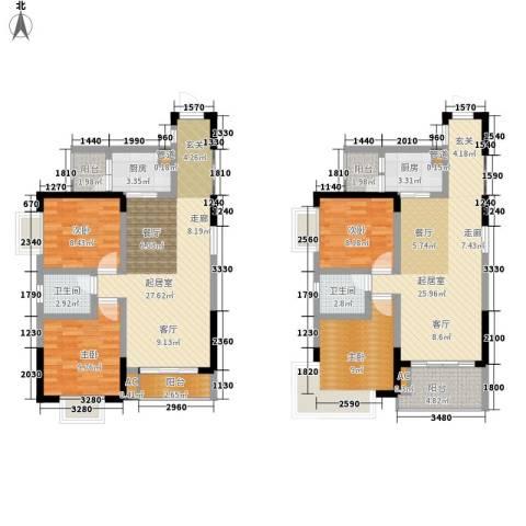 亚热带雅居4室0厅2卫2厨113.79㎡户型图
