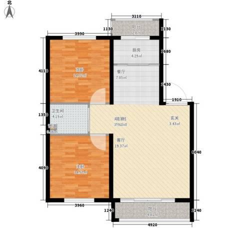 金达莱家园2室0厅1卫1厨94.00㎡户型图