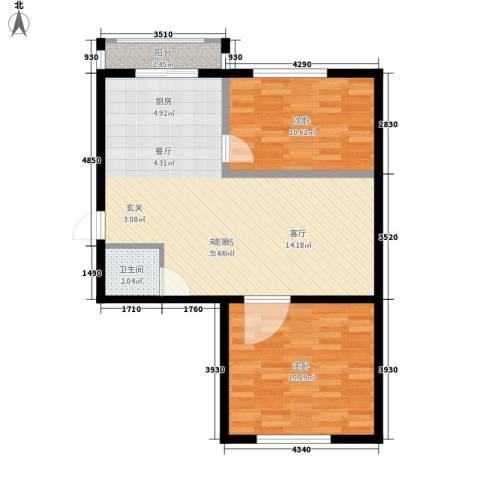 金达莱家园2室0厅1卫0厨70.00㎡户型图