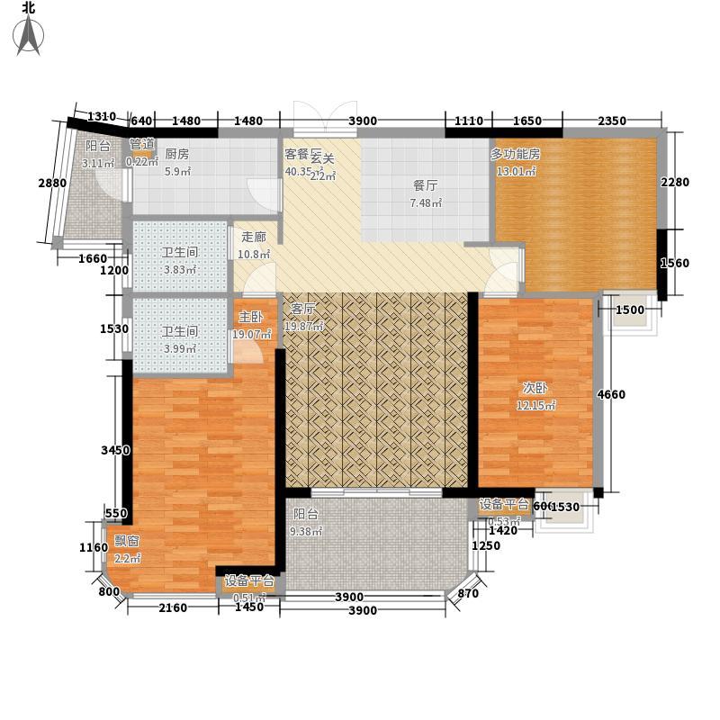 中泰峰境141.34㎡中泰峰境户型图B1栋1、2座02单元户型3室2厅2卫1厨户型3室2厅2卫1厨