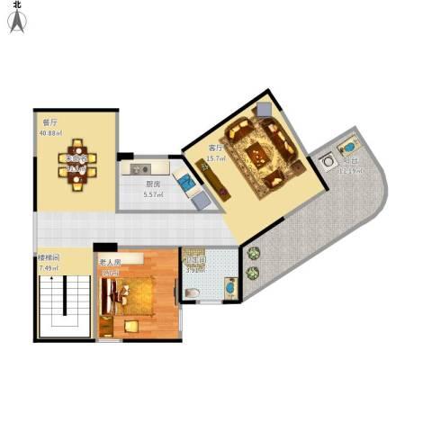 古龙御园1室1厅1卫1厨98.00㎡户型图
