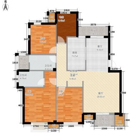 临山花园4室0厅2卫1厨150.00㎡户型图