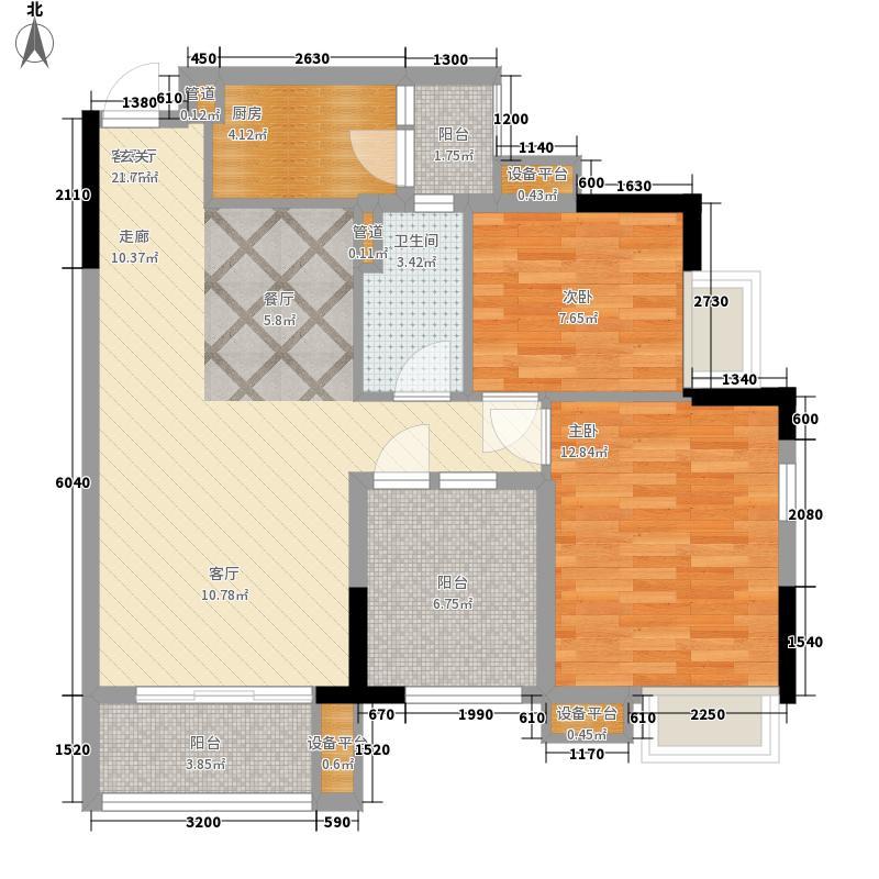 中泰峰境86.40㎡中泰峰境户型图A4栋2单位06户型3室2厅1卫1厨户型3室2厅1卫1厨
