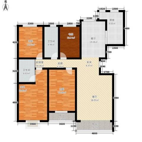 巨海城4室0厅2卫1厨192.00㎡户型图