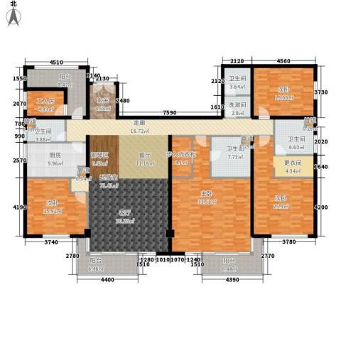 龙柏花苑4室0厅4卫1厨255.00㎡户型图