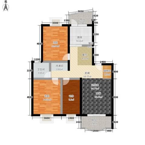 田园美居3室0厅1卫1厨110.00㎡户型图