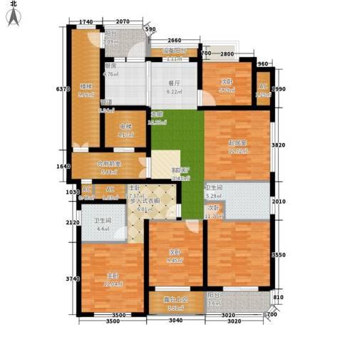 米兰公寓4室1厅2卫1厨144.00㎡户型图