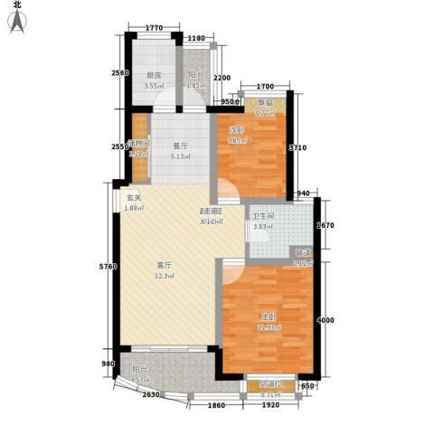 环龙新纪园2室0厅1卫1厨90.00㎡户型图