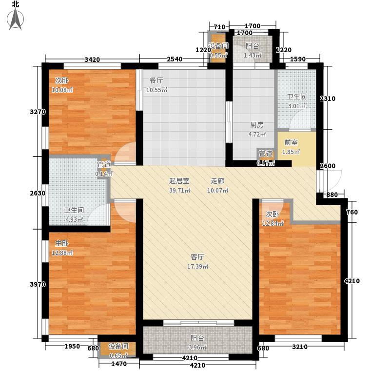 怡水公馆C5户型3室2厅2卫1厨