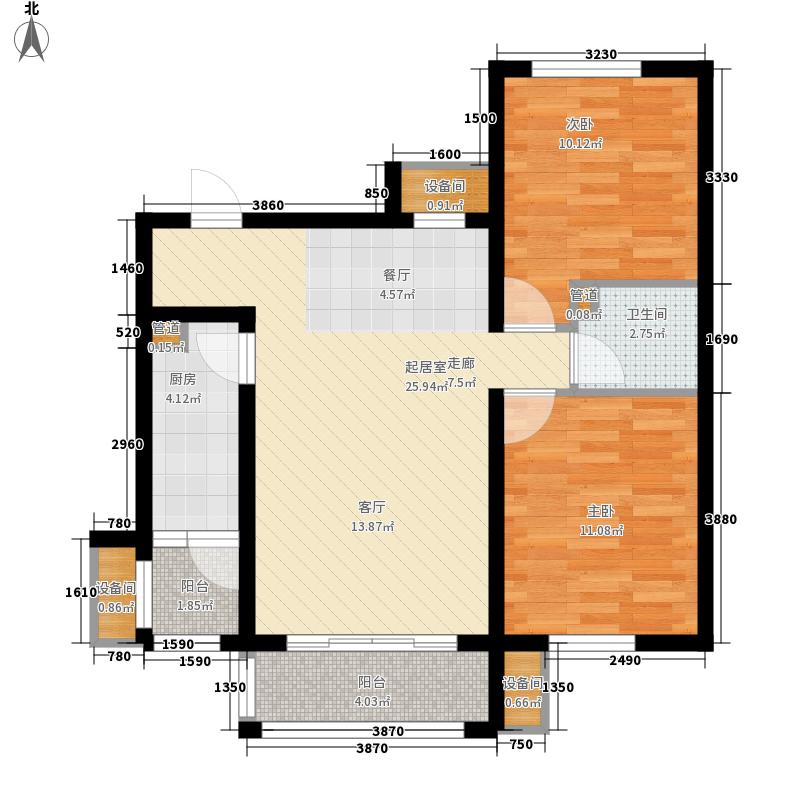 怡水公馆限价保障房1户型2室2厅1卫1厨