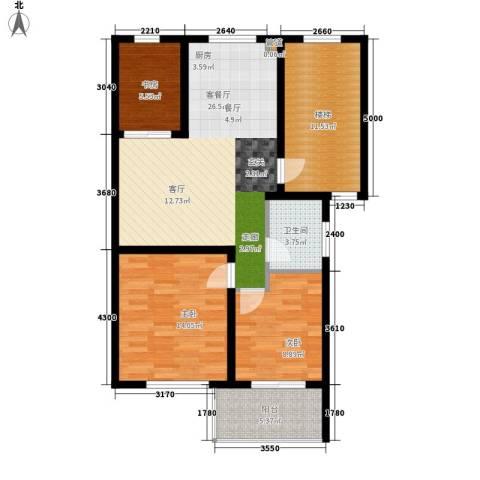 柯南旺角3室1厅1卫0厨108.00㎡户型图