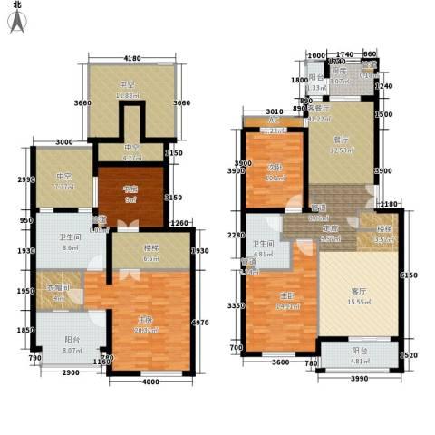 学风19114室1厅2卫1厨162.42㎡户型图