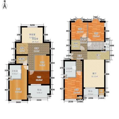 学风19115室1厅2卫1厨184.00㎡户型图