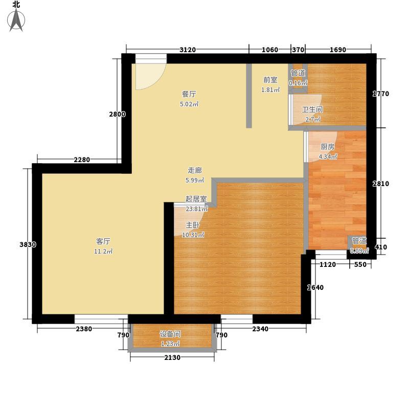 中国铁建兴盛馨苑65.00㎡A-4a户型1室