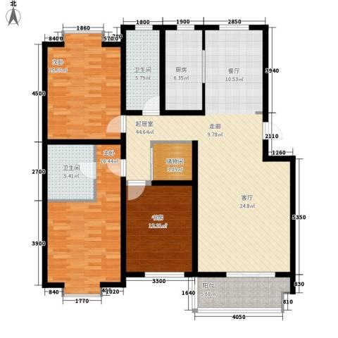 巨海城3室0厅2卫1厨153.00㎡户型图