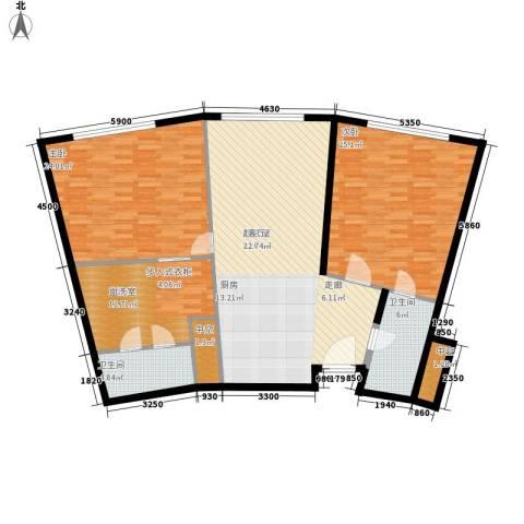 天津中心2室0厅2卫0厨125.00㎡户型图