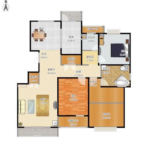 南方城一期2室1厅2卫1厨174.00㎡户型图