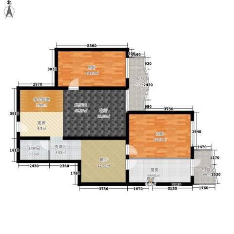 怡清园2室0厅1卫1厨111.00㎡户型图