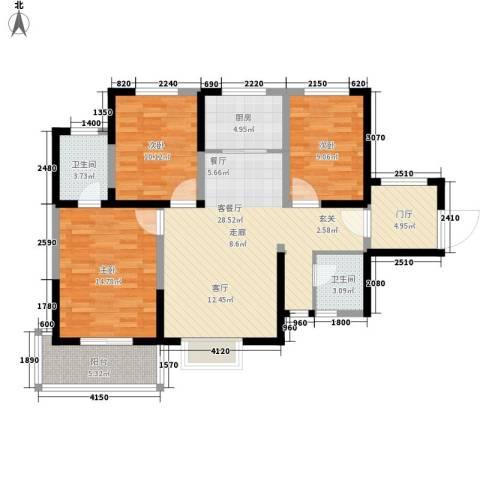 暻秀天下3室1厅2卫1厨115.00㎡户型图