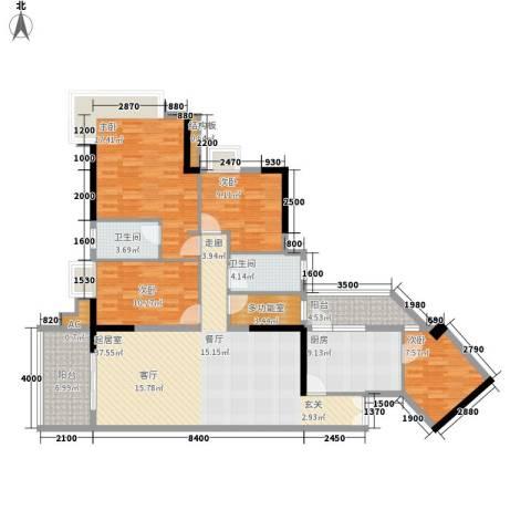 翠竹苑4室0厅2卫1厨147.00㎡户型图