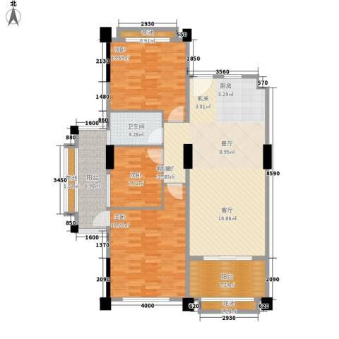太平湖金龙岛3室1厅1卫0厨120.00㎡户型图