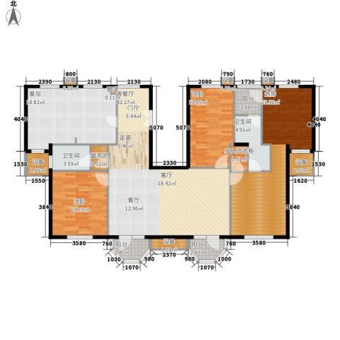 中海城圣朝菲3室1厅2卫1厨193.00㎡户型图