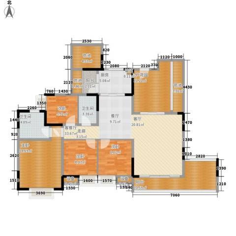 天一名居4室1厅2卫1厨138.00㎡户型图