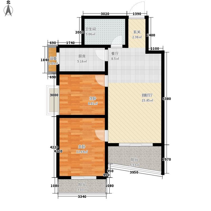 易居・山水豪庭项目88.80㎡易居・山水豪庭项目户型图B户型2室2厅1卫1厨户型2室2厅1卫1厨