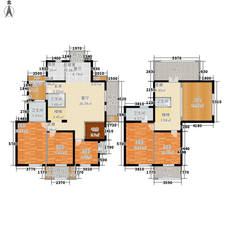 东方天郡217.00㎡东方天郡户型图D户型塞图巴尔5室2厅4卫户型5室2厅4卫