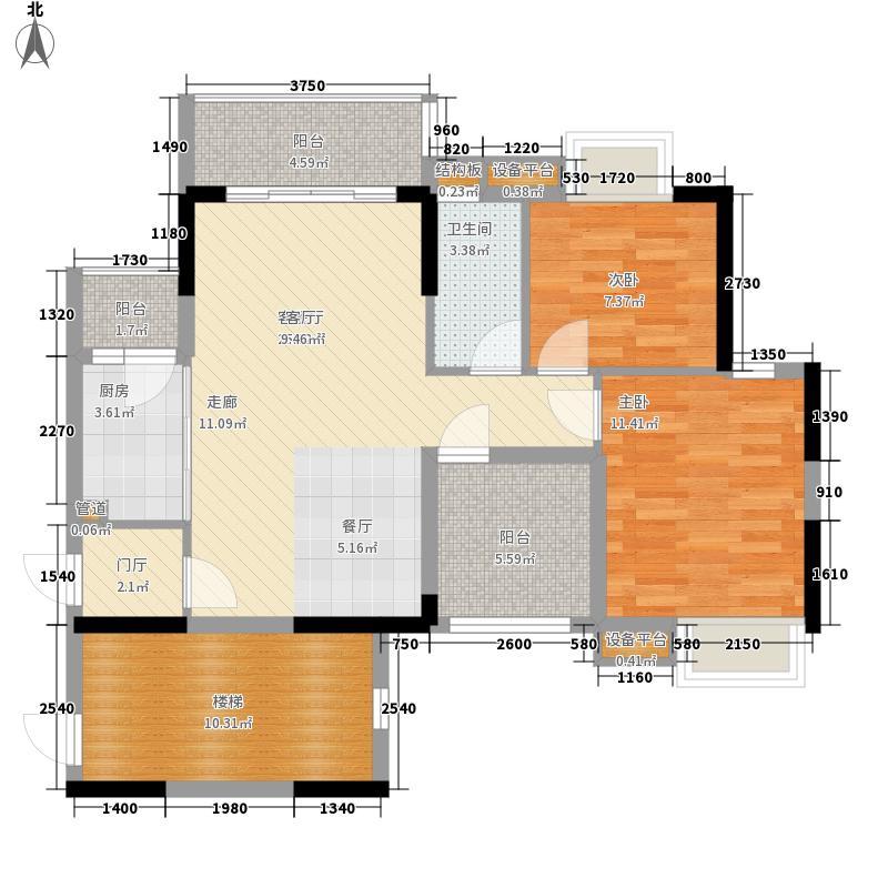 中泰峰境85.40㎡中泰峰境户型图1单元03户型3室2厅1卫1厨户型3室2厅1卫1厨