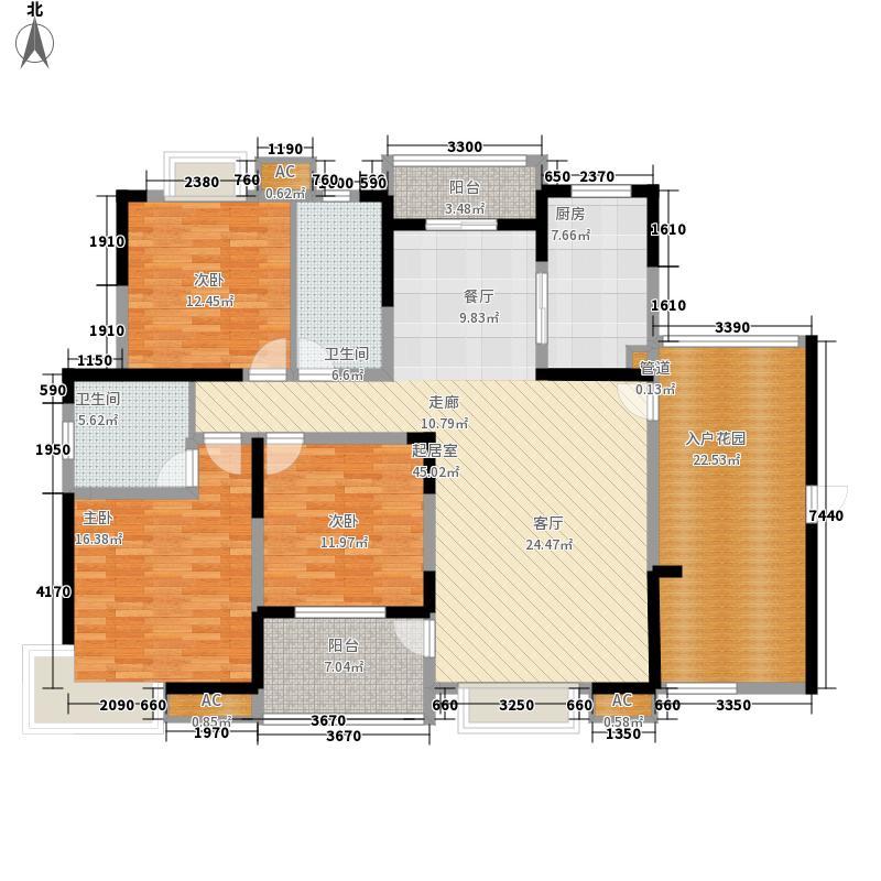 新华学府花园160.00㎡新华学府花园3室户型3室