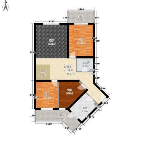 怡清园3室0厅1卫1厨112.00㎡户型图