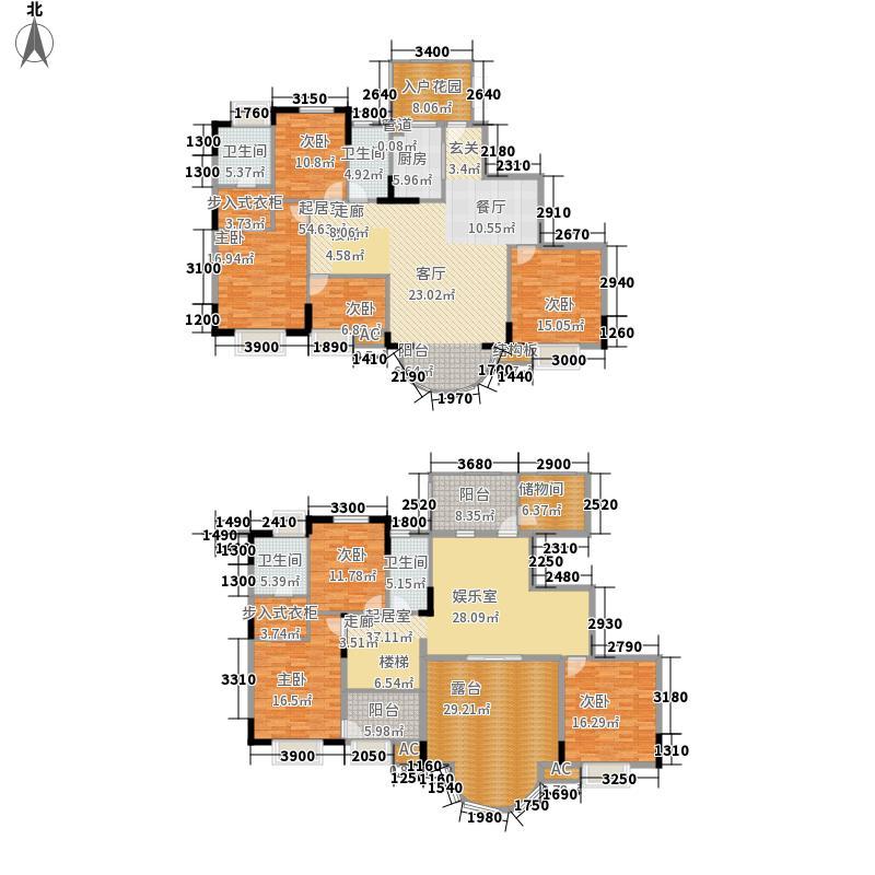 紫金庄园309.82㎡紫金庄园户型图3栋2单元2号户型18层7室3厅4卫1厨户型7室3厅4卫1厨