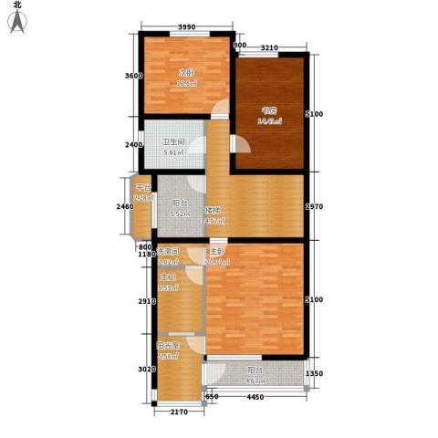 热电二区3室0厅1卫0厨134.00㎡户型图