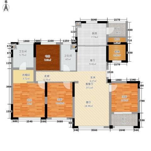 雅戈尔明洲4室1厅2卫1厨161.00㎡户型图