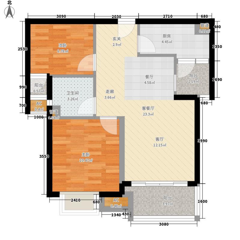 桃园小区 2室 户型图