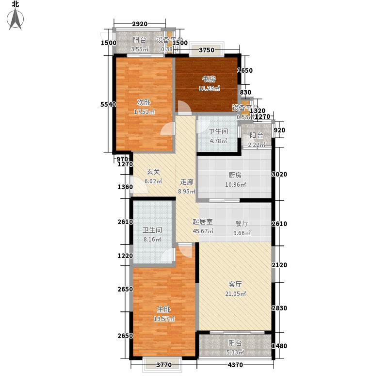 长峰馨园145.05㎡R型户型3室2厅2卫1厨