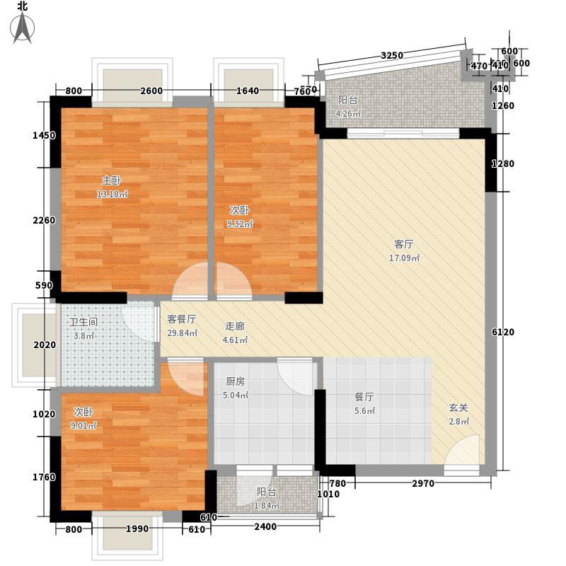 莱斯豪苑98.47㎡莱斯豪苑B户型E-楚莱轩98.47㎡户型10室