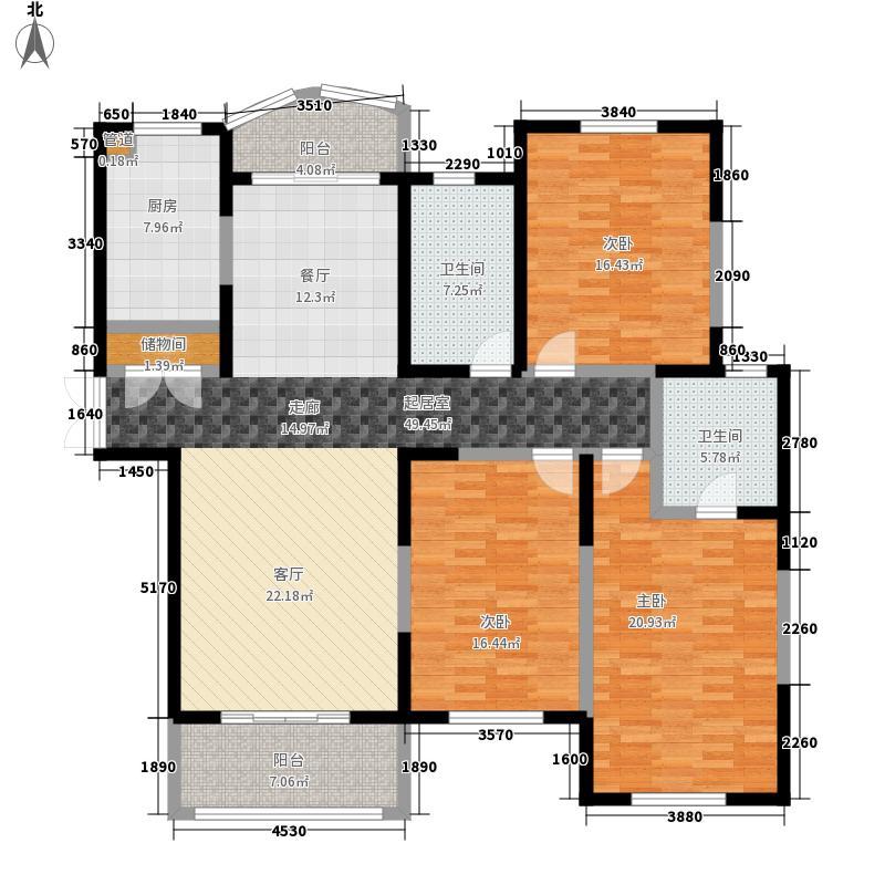 高迪晶城157.26㎡高迪晶城户型图3、7#楼-C7户型3室2厅2卫1厨户型3室2厅2卫1厨