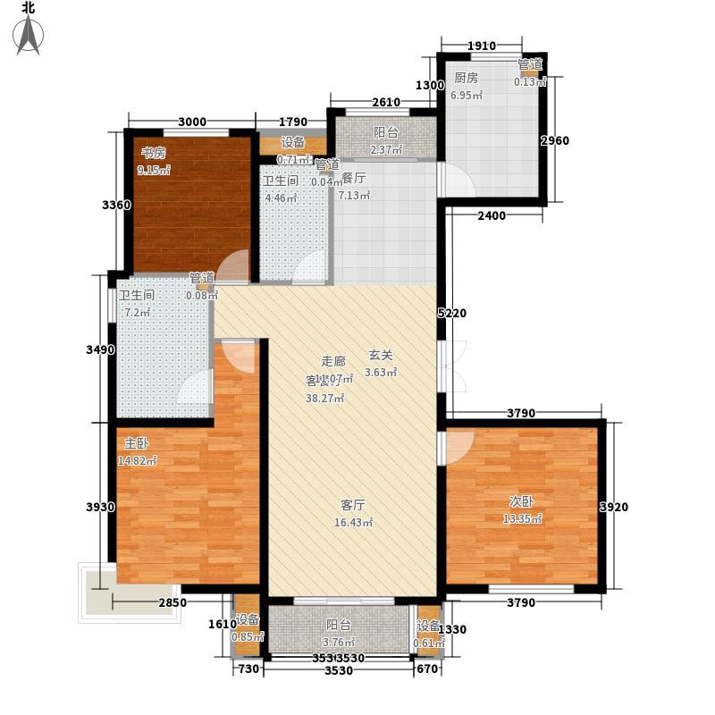 天津诺德中心137.00㎡高层1号楼标准层A户型