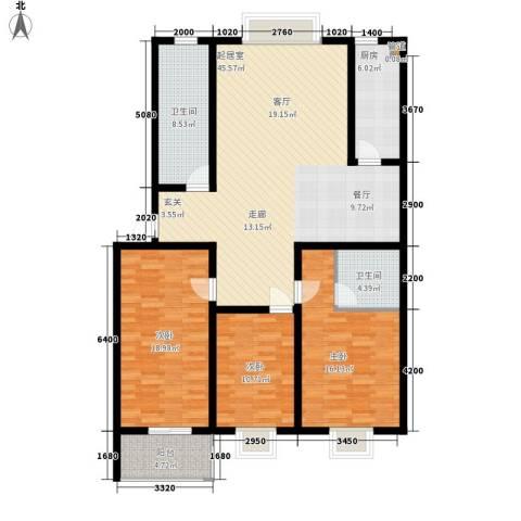 楚天书香门第3室0厅2卫1厨146.00㎡户型图