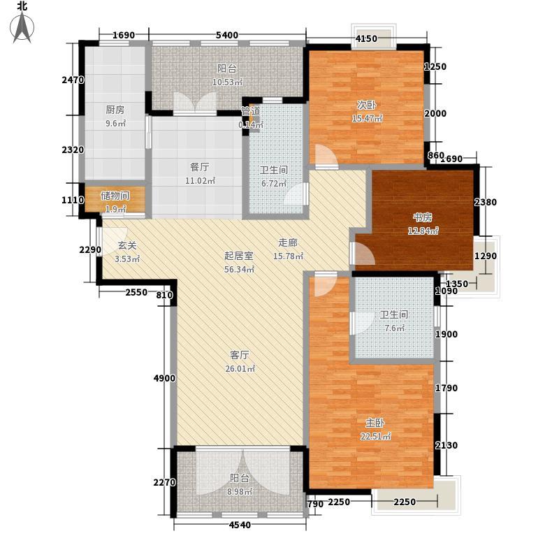 徐汇苑170.00㎡徐汇苑户型图三期D3户型3室2厅户型3室2厅