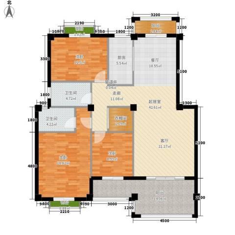 东辰阳光清华3室0厅2卫1厨138.00㎡户型图