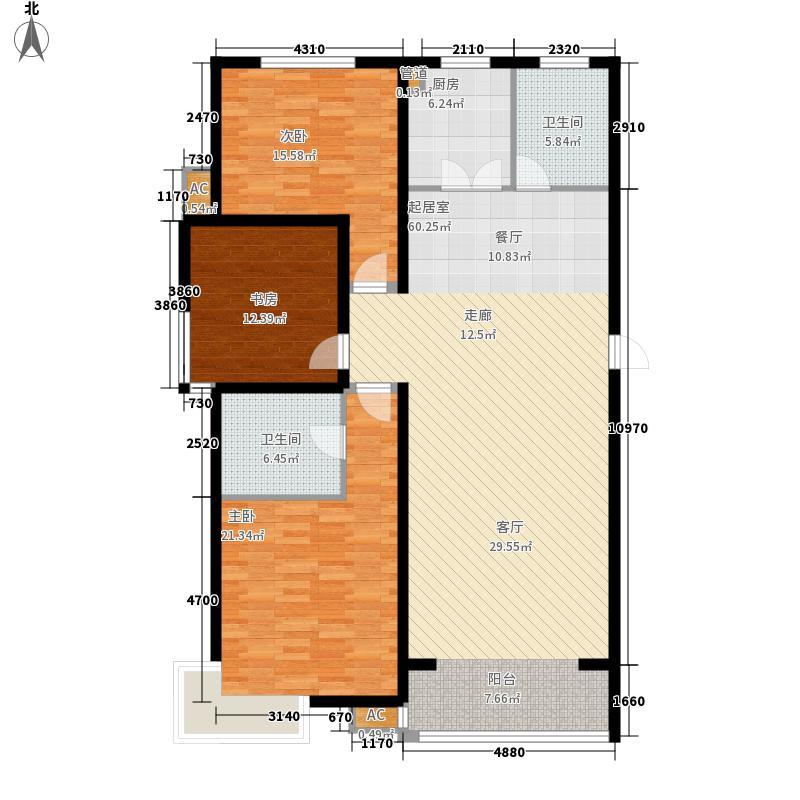 银基・东方威尼斯142.00㎡银基・东方威尼斯3室户型3室
