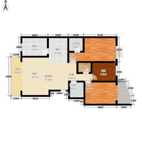 新东方花园3室0厅2卫1厨133.16㎡户型图