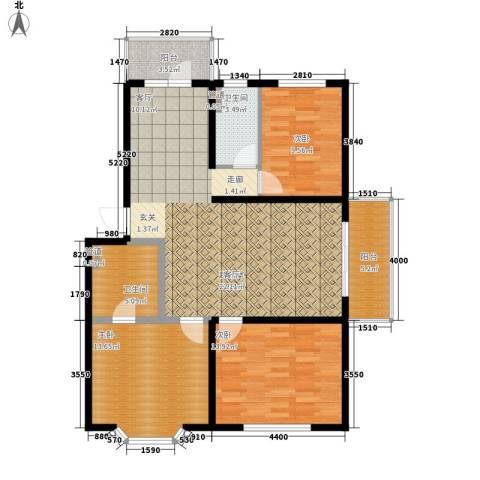 解困小区3室0厅2卫0厨89.47㎡户型图