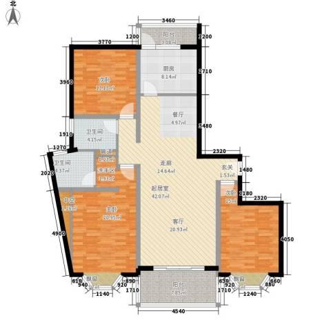 宏润公寓3室0厅2卫1厨137.00㎡户型图