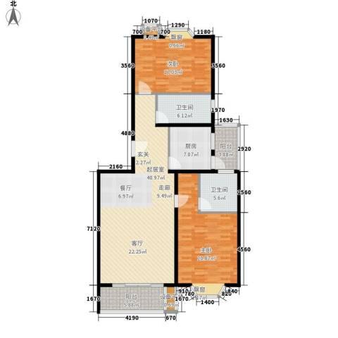 虹口典范2室0厅2卫1厨151.00㎡户型图
